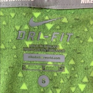 Nike Tops - Nike Dri Fit Black & Neon Green Athletic Tank Top